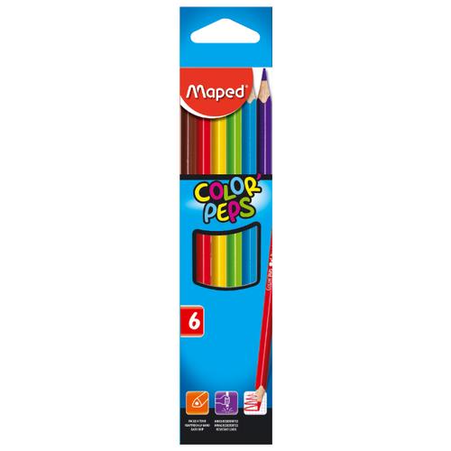 Maped Цветные карандаши Color Peps 6 цветов (832002)  - купить со скидкой