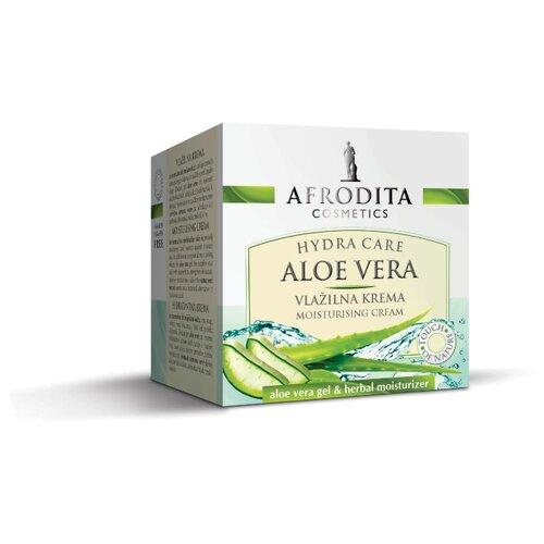 Крем для лица увлажняющий ALOE VERA, Afrodita Cosmetics, Словения, 50мл