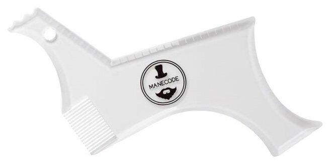 Трафарет для бритья Manecode лекало-шаблон для бороды и усов с расческой