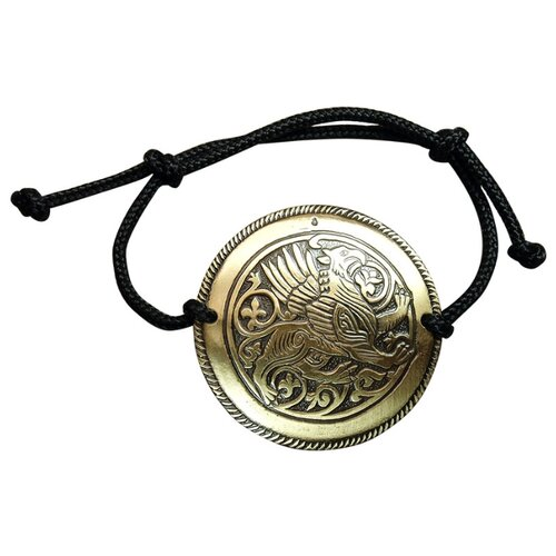 Мастерская Алёшиных Браслет-шнурок черный Суздальский грифон