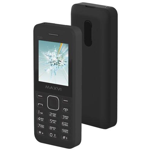 Телефон MAXVI C20 черный сотовый телефон maxvi c20 white