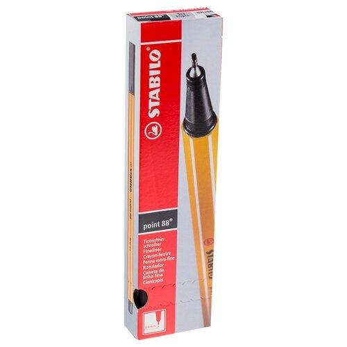 Купить STABILO Набор капиллярных ручек Point 88 0.4 мм, 10 шт., черный цвет чернил, Ручки