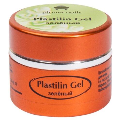 Пластилин planet nails Plastilin Gel зеленый