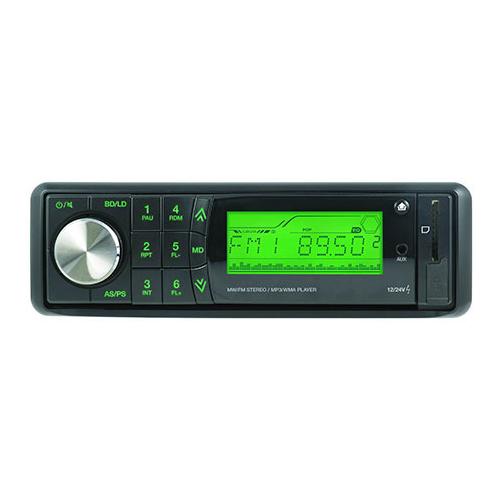 Автомагнитола Урал RU/MP3-219SA, черный/зеленая подсветка