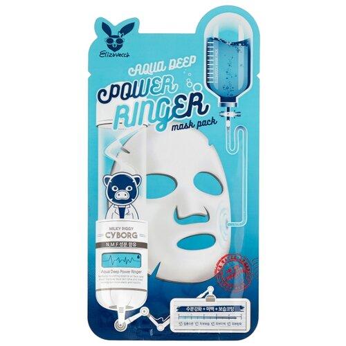 Elizavecca Увлажняющая тканевая маска Aqua Deep Power Ringer Mask Pack, 23 мл увлажняющая маска для сияния кожи elizavecca milky piggy water coating aqua brightening mask