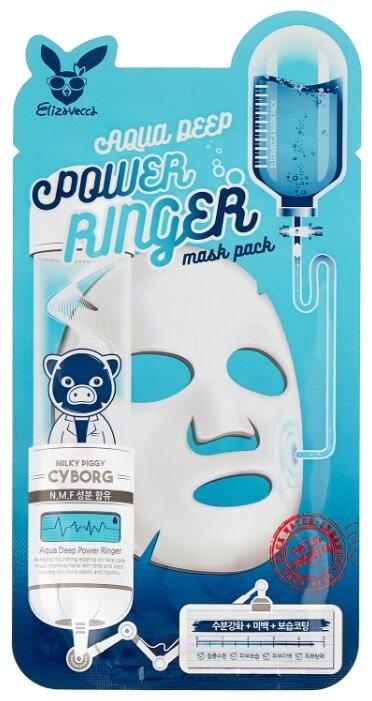 Elizavecca Увлажняющая тканевая маска Aqua Deep Power Ringer Mask Pack