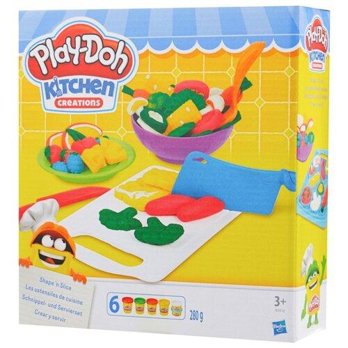 Купить Масса для лепки Play-Doh Приготовь и нарежь на дольки (B9012), Пластилин и масса для лепки