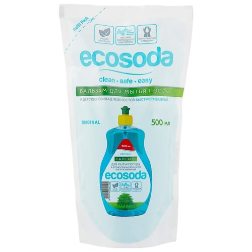 Mama Ultimate Бальзам для мытья посуды EcoSoda 0.5 л сменный блокДля мытья посуды<br>