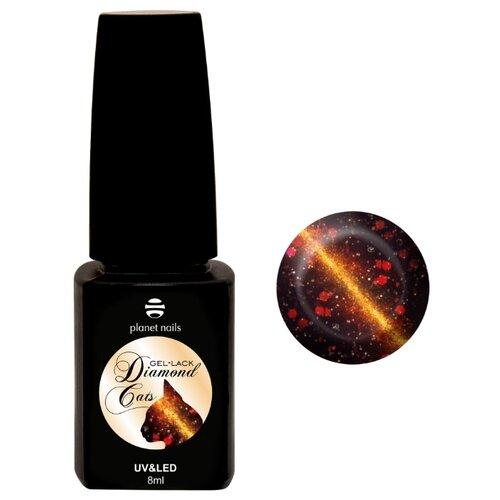 Гель-лак planet nails Diamond cats 8 760 коричнево-красныйГель-лак<br>