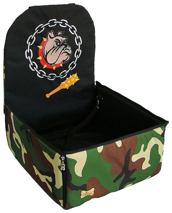 Автогамак для собак Melenni Стандарт Злой бульдог 6 45х45х57 см