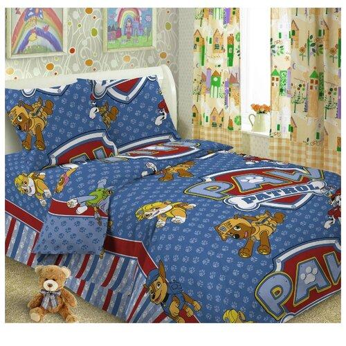 Постельное белье 1.5-спальное Letto Догги, перкаль, 50 х 70 см