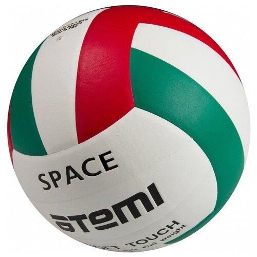 Волейбольный мяч ATEMI Space зеленый/белый/красный