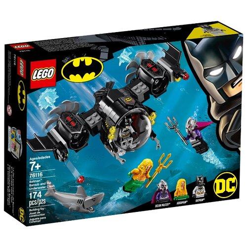 Купить Конструктор LEGO DC Super Heroes 76116 Подводный бой Бэтмена, Конструкторы