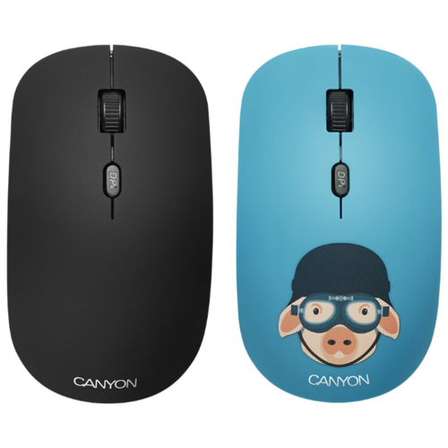 Мышь Canyon CND-CMSW401MP Свинка-воин Blue USB