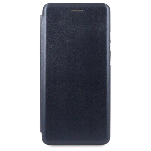 Кожаный чехол для Xiaomi Note 8 / Чехол Книжка на Сяоми Нот 8 с кармашком для карт (Синий)