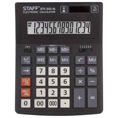 Калькулятор бухгалтерский STAFF STF-333-14 черный