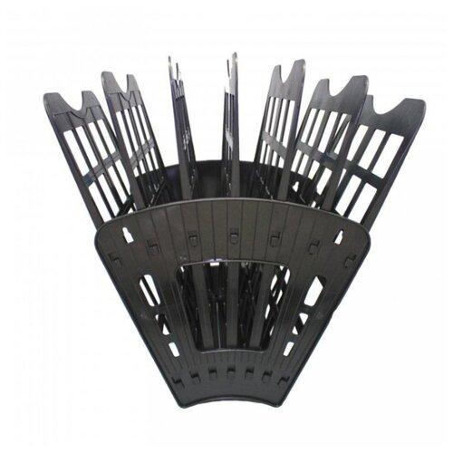 Лоток веерный для бумаги Sponsor ST905-7 (6 отд.) черный лоток для бумаг sponsor вертикально горизонтальный семисекционный черный st905 7