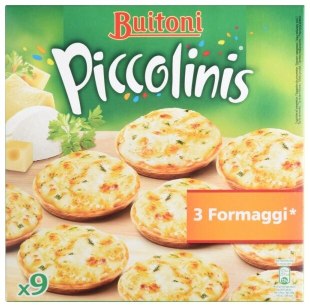 Buitoni Замороженная пицца Piccolinis 3 сыра (9 minis) 270 г
