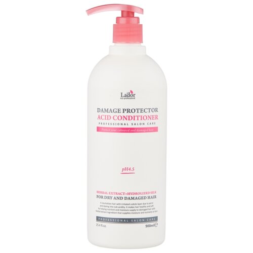 La'dor кондиционер Damage Protector Acid, 900 мл шампунь lador damage protector acid shampoo отзывы
