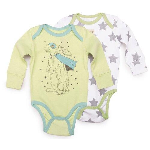 Боди Happy Baby размер 56, зеленый/серый брюки happy baby baby crawlers set 90034 размер 56 зеленый белый