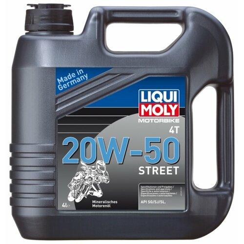 Минеральное моторное масло LIQUI MOLY Motorbike 4T 20W-50 Street, 4 л по цене 2 789