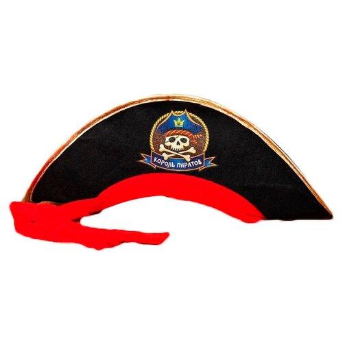 Купить Головной убор Страна Карнавалия Король пиратов (2226397), черный, Карнавальные костюмы