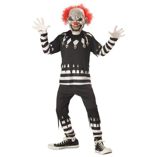 Купить Костюм California Costumes Адский шутник 00299, черный/белый, размер XL (12-14 лет), Карнавальные костюмы