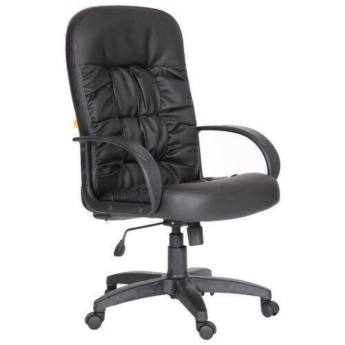 Фото - Компьютерное кресло Chairman 416 для руководителя, обивка: искусственная кожа, цвет: черный матовый компьютерное кресло chairman 668 lt для руководителя обивка искусственная кожа цвет черный бежевый