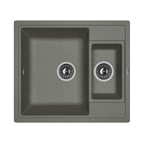 Врезная кухонная мойка 58 см FLORENTINA Липси-580К FG 20.210.D0580.102 черный
