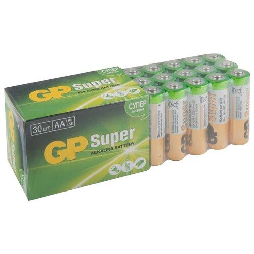 Фото - Батарейка GP Super Alkaline AA 30 шт картон батарейка gp super alkaline aa 16 шт блистер