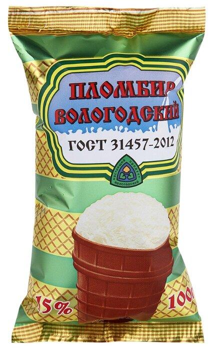 Мороженое Вологодский пломбир пломбир сливочный 100 г