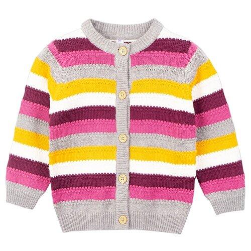 Кардиган playToday размер 92, розовый,светло-розовый, желтый, светло-серый колготки для девочки acoola muna цвет светло розовый 20254460001 3400 размер 92