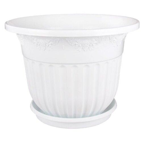 Горшок Альтернатива Лозанна, 17.5х13 см белый