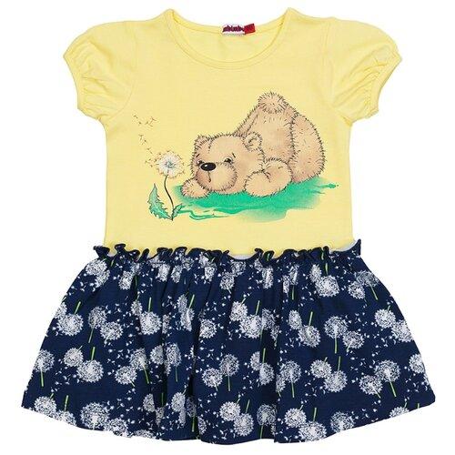 Платье M-Bimbo размер 104, желтый/темно-синий платье smena размер 104 56 синий желтый