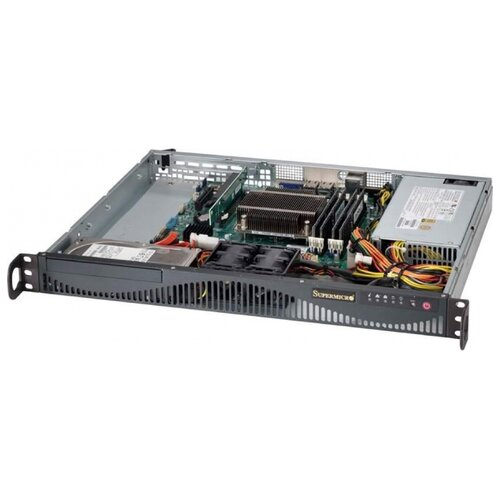 Сервер Supermicro SuperServer 5018D-MF без процессора/без ОЗУ/без накопителей/1 x 350 Вт/LAN 1 Гбит/c