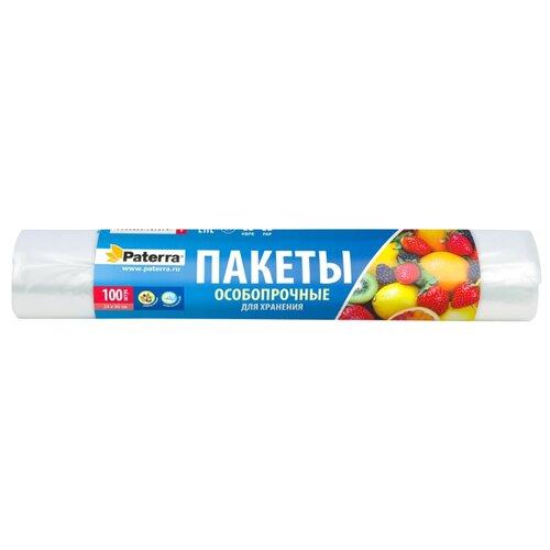 Пакеты для хранения продуктов Paterra 109-007, 36 см х 24 см, 100 шт зажим для рулетов paterra длина 39 см 4 шт