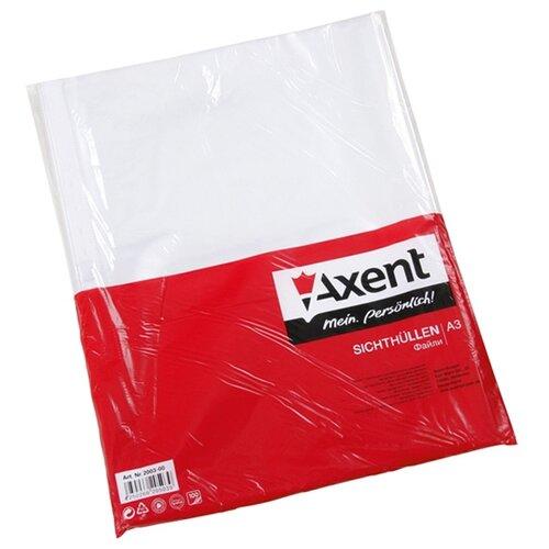 Axent Файл А3 глянцевый вертикальный, 40 мкм, 100 шт прозрачный