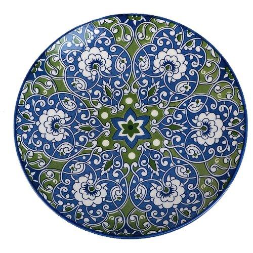 Доляна Тарелка Джавлон 21,7 см сине-зеленый серп доляна 18 см