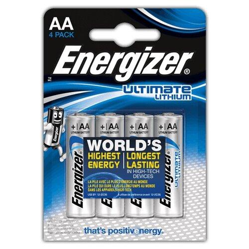 Фото - Батарейка Energizer Ultimate Lithium AA, 4 шт. батарейка energizer ultimate lithium aa 4 шт