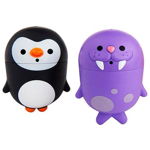 Купить Набор для ванной Munchkin Пингвин и морж (1120384) фиолетовый/черный, Игрушки для ванной