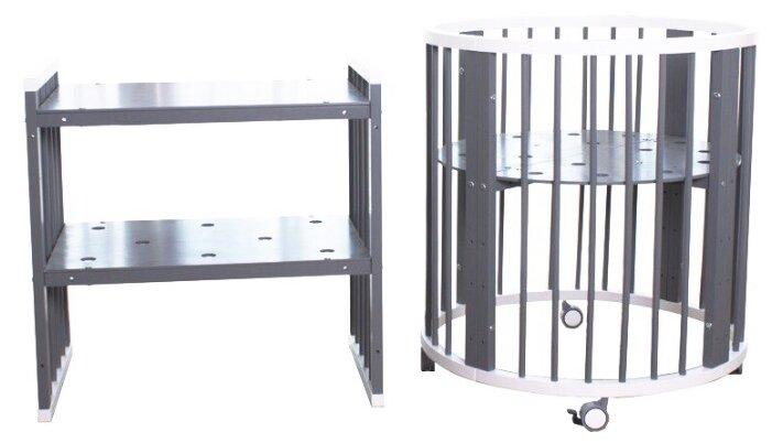 Кроватка SooHoo Овальная Platinum 9 в 1 комбинированная