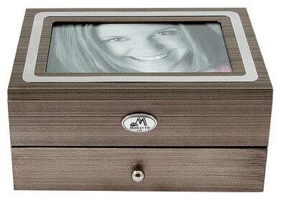 Шкатулка-фоторамка для ювелирных украшений, 18x13x10 см., MORETTO