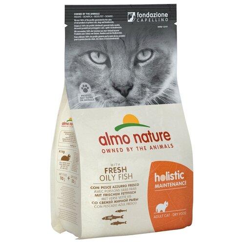 Сухой корм для кошек Almo Nature Holistic, гипоаллергенный, профилактика избыточного веса, с рыбой, с коричневым рисом 2 кг