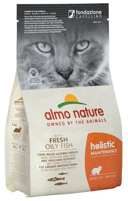 Корм для кошек Almo Nature Holistic с рыбой и с коричневым рисом