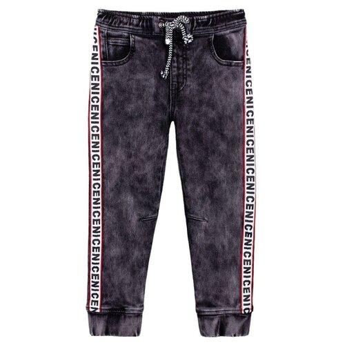 Джинсы playToday размер 98, темно-серый/белый/черный джинсы rica lewis ц серый р 30