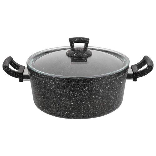 Кастрюля КАТЮША Классика 8020-600 4,7 л, черный гранит кастрюля катюша классика 8020 500 4 л черный