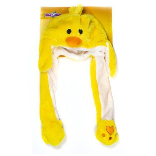 Купить Головной убор 1 TOY Хлоп-Ушки Утенок (Т17638), желтый, Карнавальные костюмы