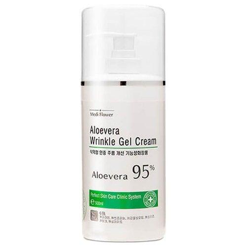 Medi Flower Aloevera Wrinkle Gel Cream Смягчающий гель-крем для лица с алоэ вера, 500 мл