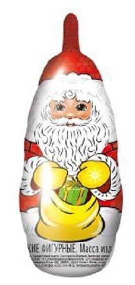 Фигурный шоколад Сладкая Сказка Дед Мороз, молочный шоколад, 12 г, фольга