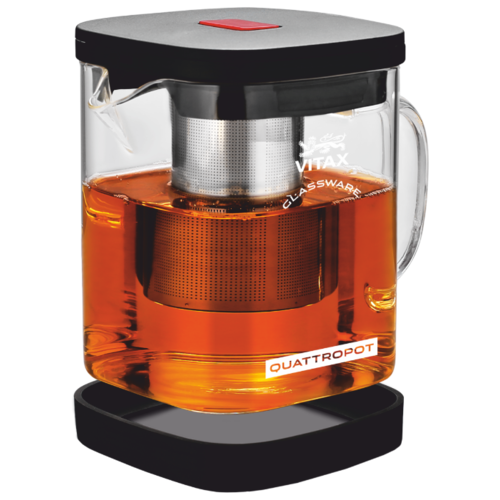 Vitax Заварочный чайник Warkworth VX-3307 1,1 л, прозрачный/черный